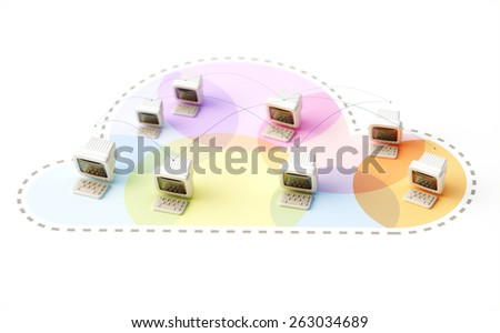 Cloud Computing Concept Illustration - stock photo