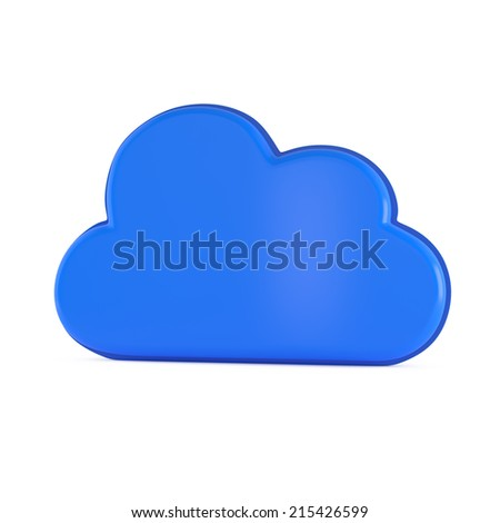 Cloud computing concept isolated on white - 3d illustration - stock photo