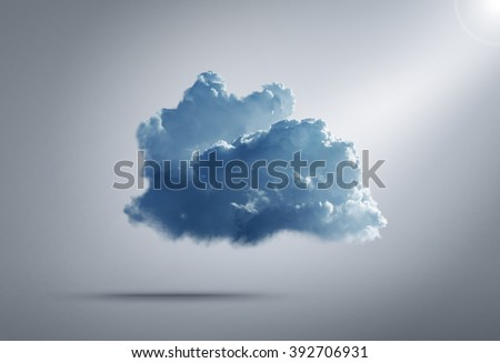 Cloud computing concept on background - stock photo