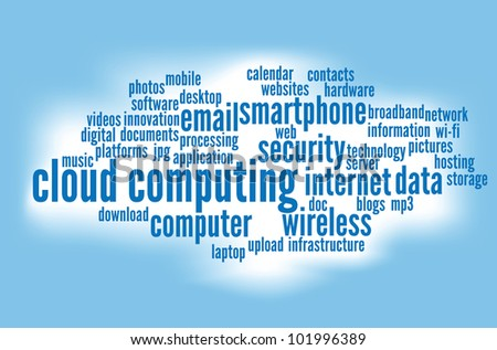 cloud computing concepts background. - stock photo