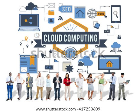 Cloud Computing Connection Networking Concept - stock photo