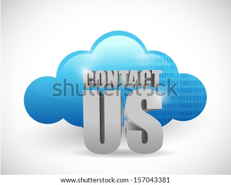 cloud computing contact us illustration design over a white background - stock photo