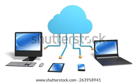 Cloud Computing. 3D. Cloud Computing - stock photo