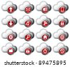 Cloud Computing icons - Virtual cloud icons upload, download, restore, backup and save computer files and digital media - Raster Version - stock vector