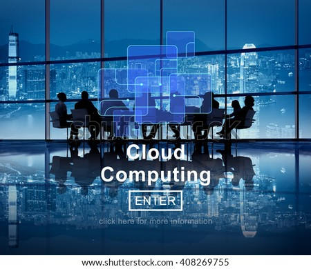 Cloud Computing Network Storage Technology Data Concept