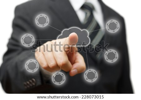 Cloud computing,networking and connectivity - stock photo