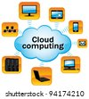 Cloud computing schema. Technology concept. - stock photo