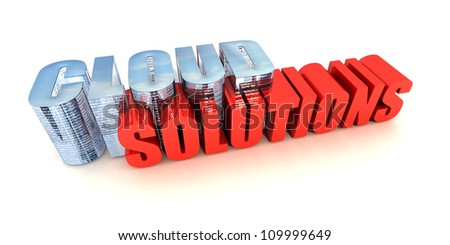 Cloud Computing Solutions - stock photo