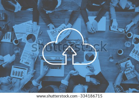 Cloud Computing Storage Internet Transfer Digital Concept - stock photo