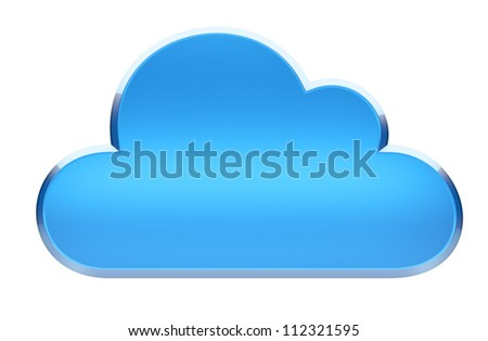 Cloud Computing Symbol - 3d render