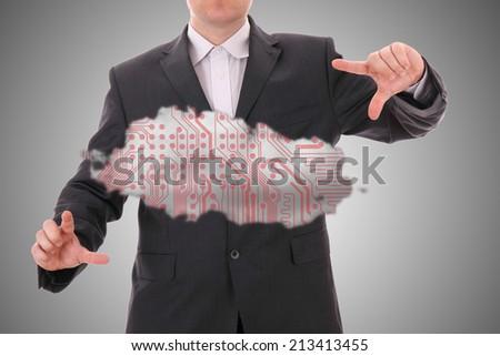 Cloud computing, technology concept - stock photo