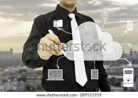 Cloud computing technology concept. - stock photo