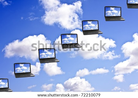 Cloud Computing Technology Concept - stock photo