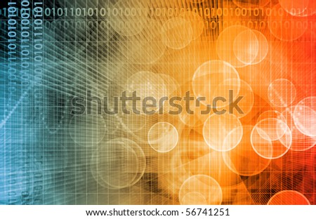 Cloud Computing Technology Concept as a Abstract - stock photo