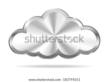 Cloud Computing - Virtual Cloud Icon - Raster Version - stock photo