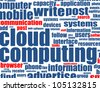cloud computing - word background - raster - stock photo