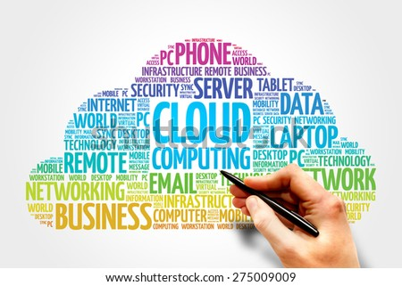 Cloud Computing word cloud, business concept - stock photo
