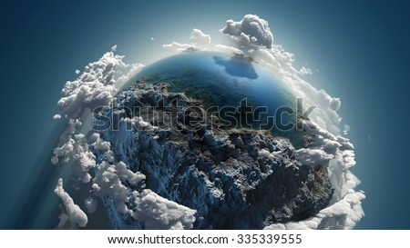 Cloud earth in space, video available, clip 12661208 - stock photo
