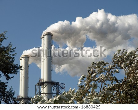 Cloud factory - stock photo