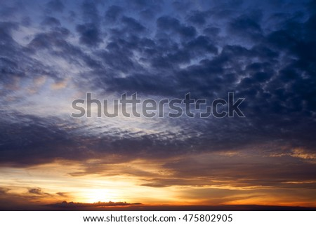 Cloud formation in the evening sky
