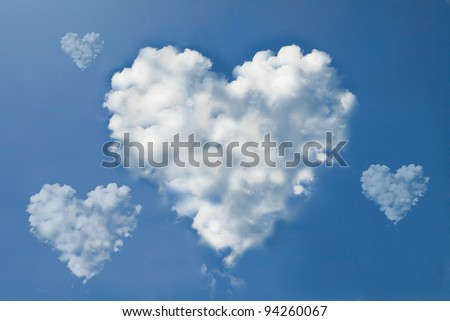 Cloud heart form