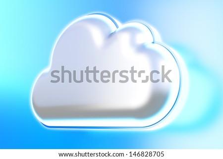 Cloud icon - stock photo