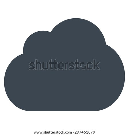 Cloud icon from Primitive Set. This isolated flat symbol is drawn with smooth blue color on a white background, angles are rounded.