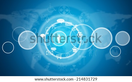 Cloud icons. Technology concept - stock photo