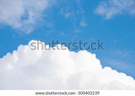 Cloud in The Blue Sky Background.