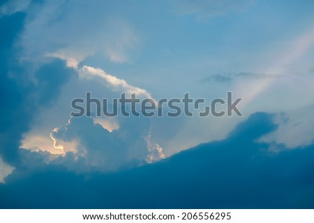 cloud in the sky - stock photo