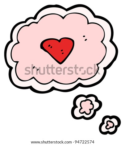 cloud love heart cartoon