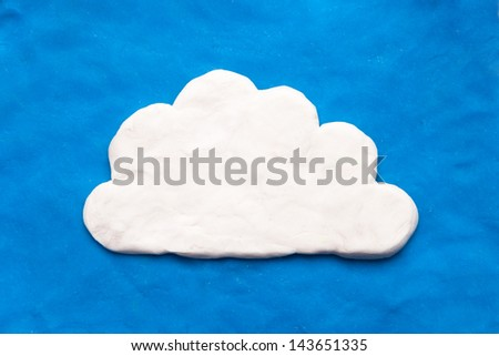 cloud made from toy clay - stock photo