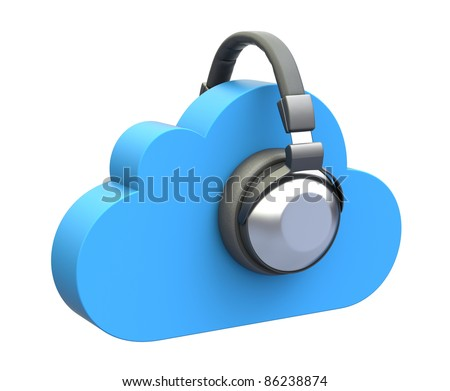Cloud music concept - stock photo