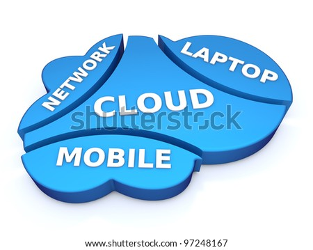 Cloud network concept - stock photo