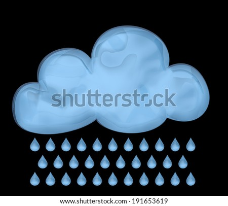 cloud on a black background - stock photo