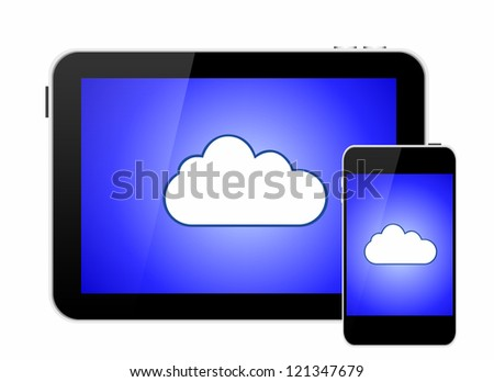 Cloud on smartphone and tablet computer