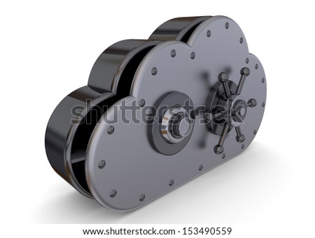 CLOUD SAFE - 3D - stock photo