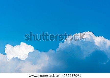 Cloud scape. Blue sky and white cloud.