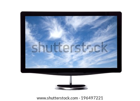 Cloud Screen Hd Monitor - stock photo