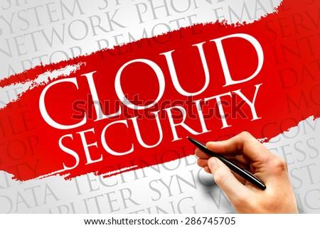 Cloud Security word cloud concept - stock photo