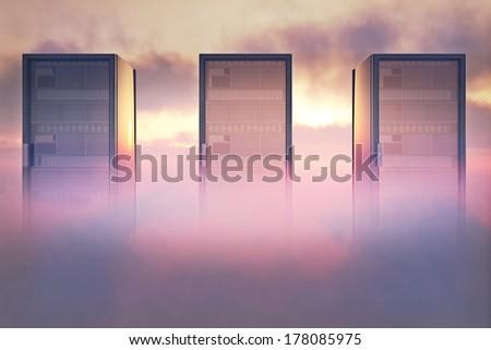 Cloud Servers Computing Creative Concept - stock photo