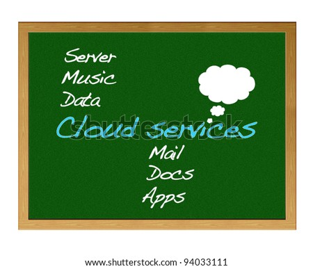 Cloud services. - stock photo
