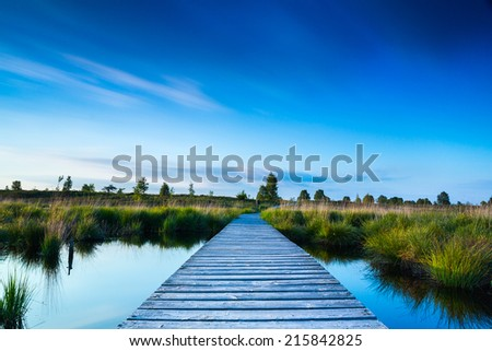 Cloud sky at the High Fen in the eifel germany - stock photo