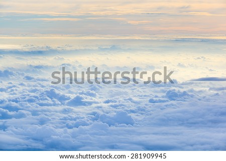 Cloud sky in heaven as background - stock photo