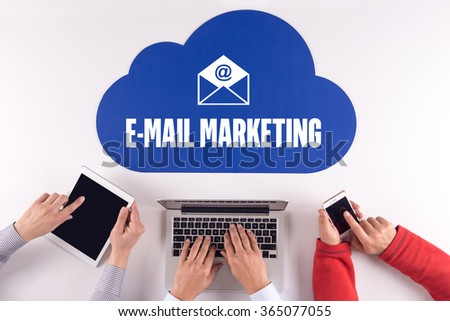 Cloud technology with E-MAIL MARKETING Concept