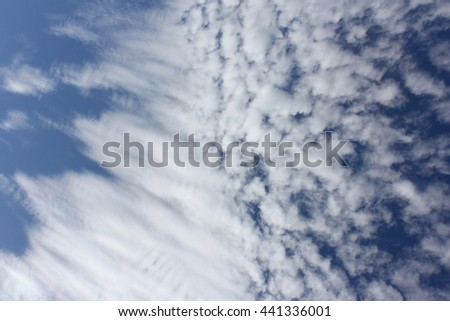 Cloud Textures with Blue Sky 2 - stock photo