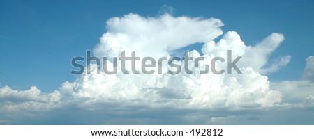 Cloud three - stock photo
