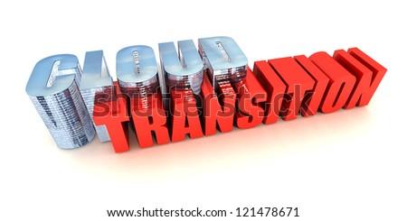 Cloud Transition - stock photo
