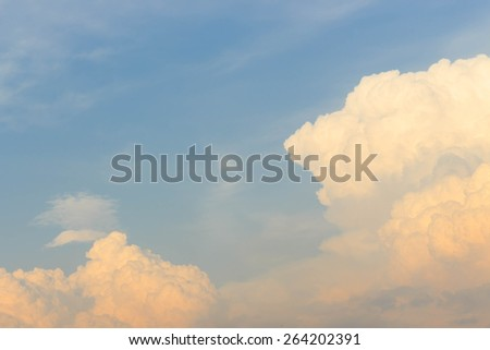 cloud with blue sky sunset nature background - stock photo