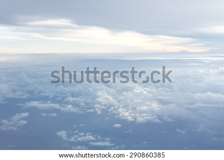 Clouds above - stock photo
